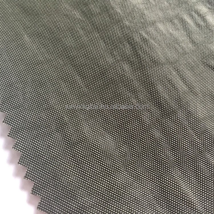 Volume supply washed loop airbag crinkle nylon fabric