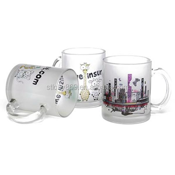China manufacture 11oz white frosted glass mug wholesale price drinking coffee matt glass mug