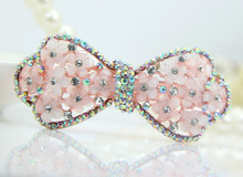 Popular colorful stones butterfly hair clips