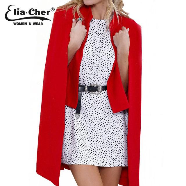 0934735183d Женщины зимние пальто 2015 Eliacher бренд шикарный элегантных женщин  шерстяное пальто мода открыть стежка смеси Большой