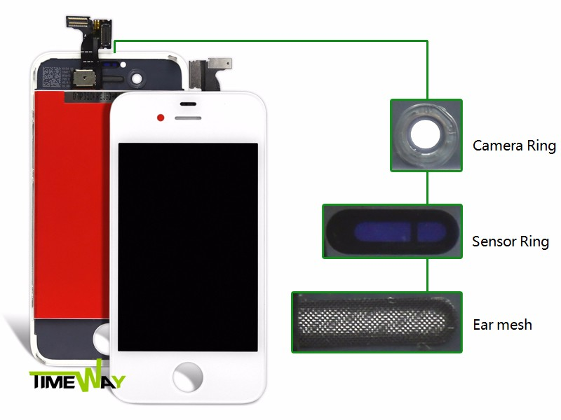2017 Timeway top AAA quality for iphone 4 lcd front panel, paypal accept for iphone 4 lcd screen