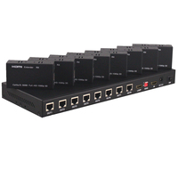 8 Ports HDMI Over Cat5e Cat6 Extender 1 in 8 out Splitter With EDID Setting and Loop Out