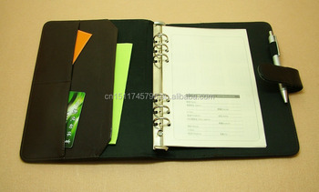 a5 pvc leather simple binder document folder with notebook buy