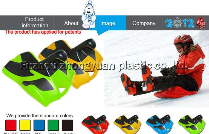 Plastic sand sled/snow sled for kids