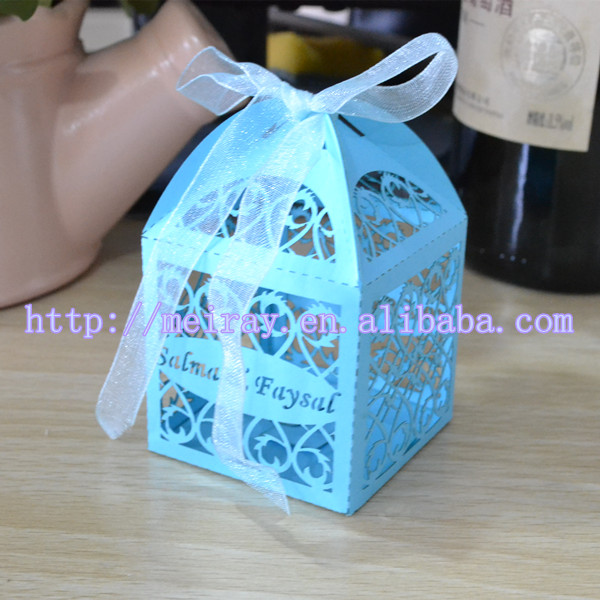 Used Wedding Decorations For Sale Party Laser Cut Small Chocolate Decoration Pink Boxes Made