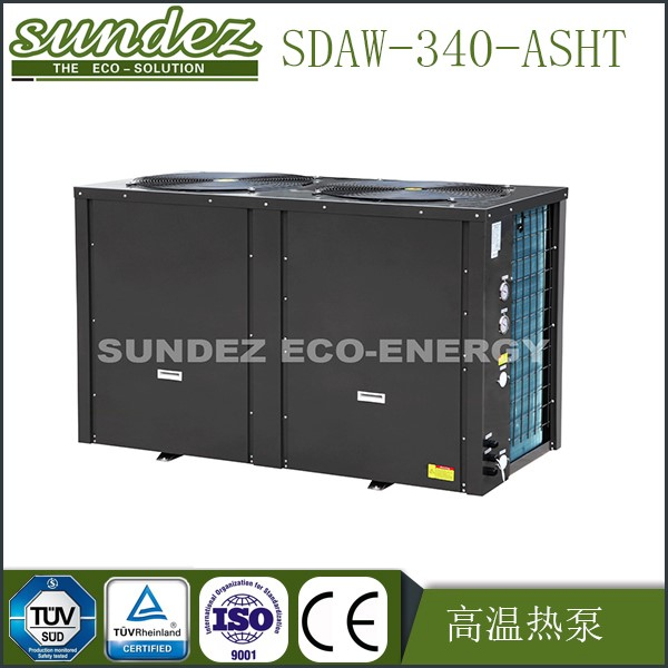 SUNDEZ Air source high temperature heat pump water heater 70 DegC 34KW commercial use r417a refrigerant