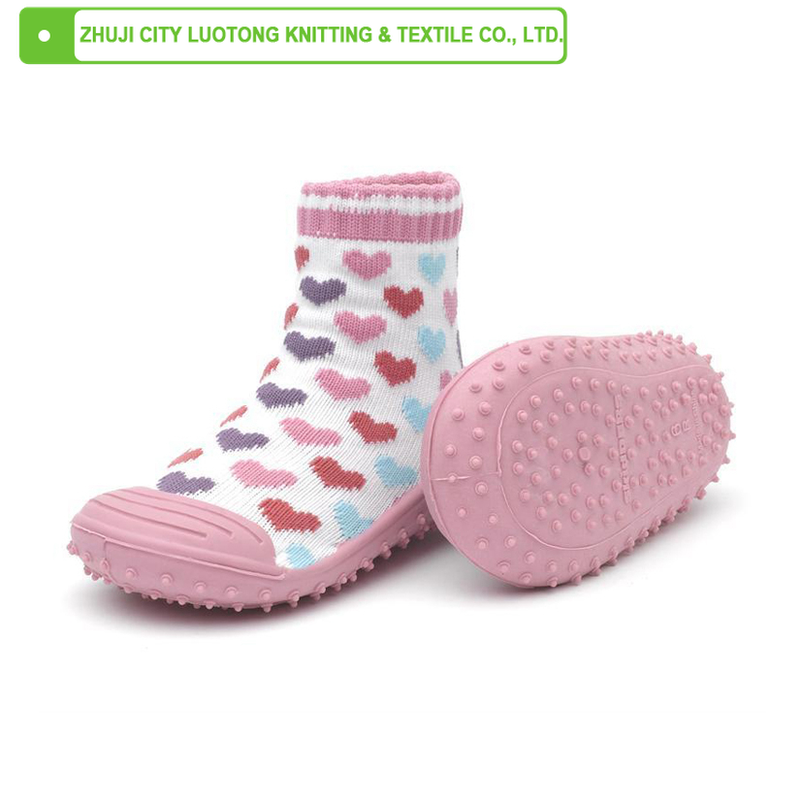 LT-1394- A baby shoe socks baby socks with rubber soles rubber bottom baby socks