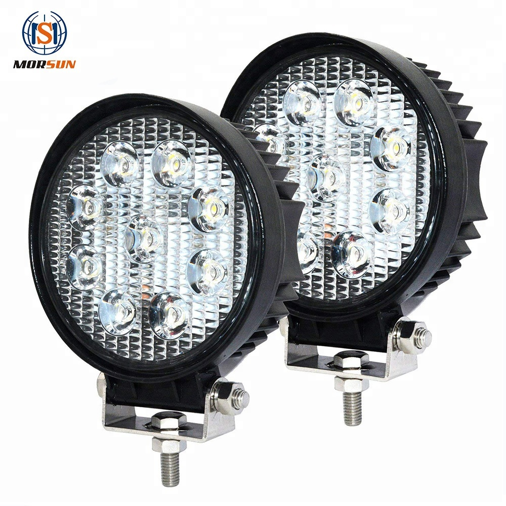 Car Top Led Work 빛 27 와트 Round Led Lamp Trucks 등 2000LM (High) 저 (Lumens 4 인치 Work Lamp 27 와트
