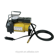 Portable 12v Mini Metal Air pump Compressor Tire Inflator Gauge