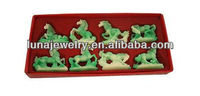 Fabulous Hong Tze Collection-Set Of Eight Jade Color Horses