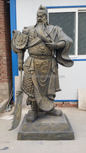 Resin statue chinese guan gong sculpture for garden decoration