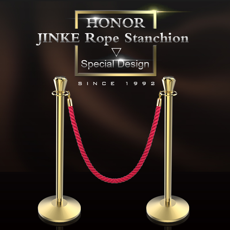 Jinke Golden Pole Red Ropes Hotel Used Stanchion Post For Las ...