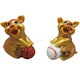 2019 new year resin gold pig statues for home decoration