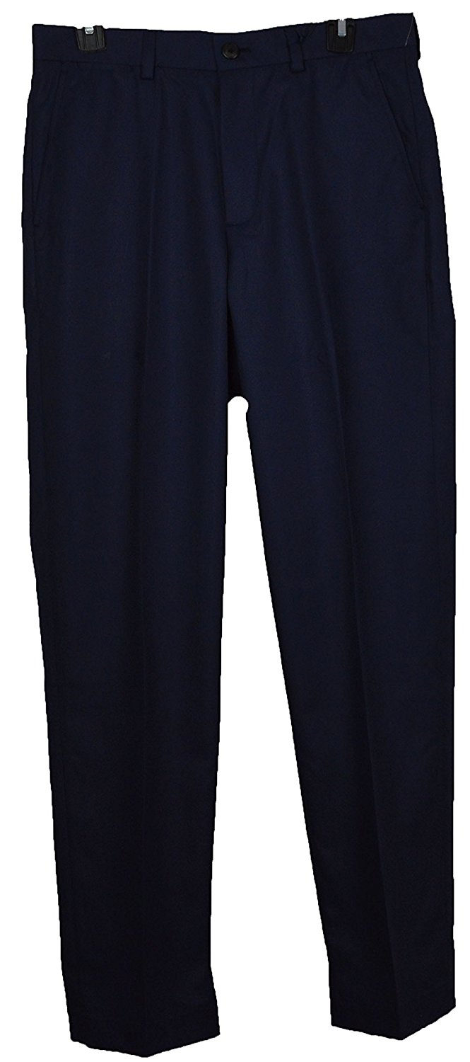 9f780461f2e Get Quotations · Brooks Brothers Mens Clark Fit Stretch Navy Blue Golf  Casual Chinos