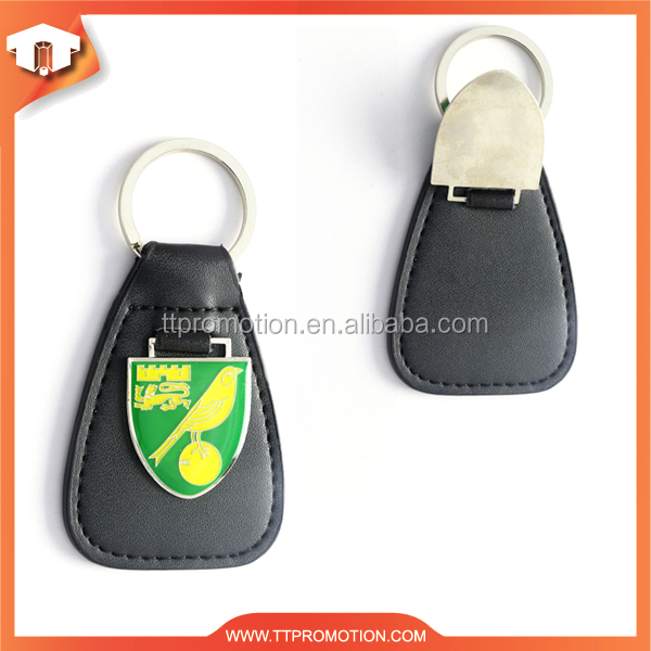 Manufacture luxury car logo leather keychain