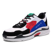 Latest Design Rubber Sole Fashion Mens White Leather Sport Running Shoes Sneakers