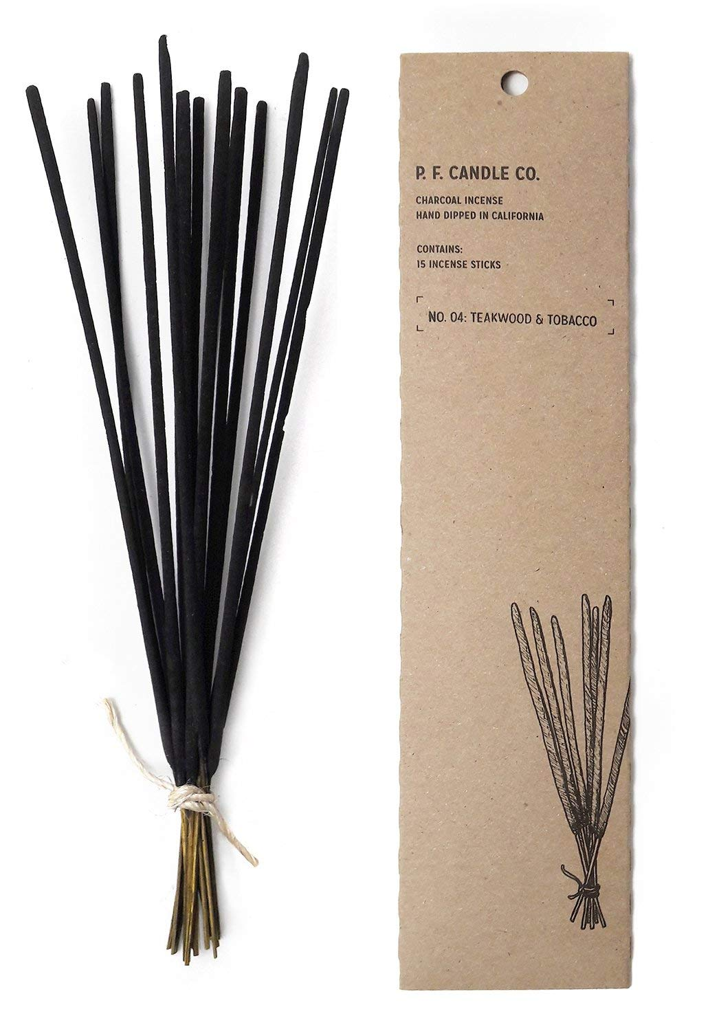 P.F. Candle Co. - No. 04: Teakwood & Tobacco Incense (2-Pack)