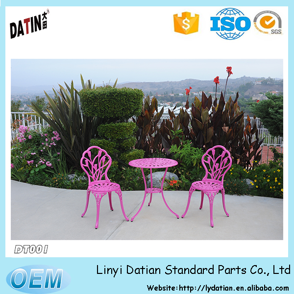 garden aluminum patio bistro table and chair set