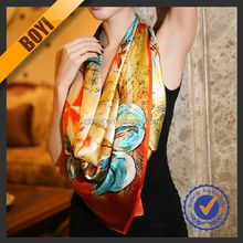 China Beautiful Jacquard Silk Scarf For Wholesale
