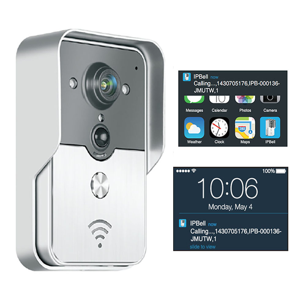 H.264 720P WiFi Video Door Phone,2.4G video Doorbell WiFi, Support Wireless intercom Unlock iOS Android APP
