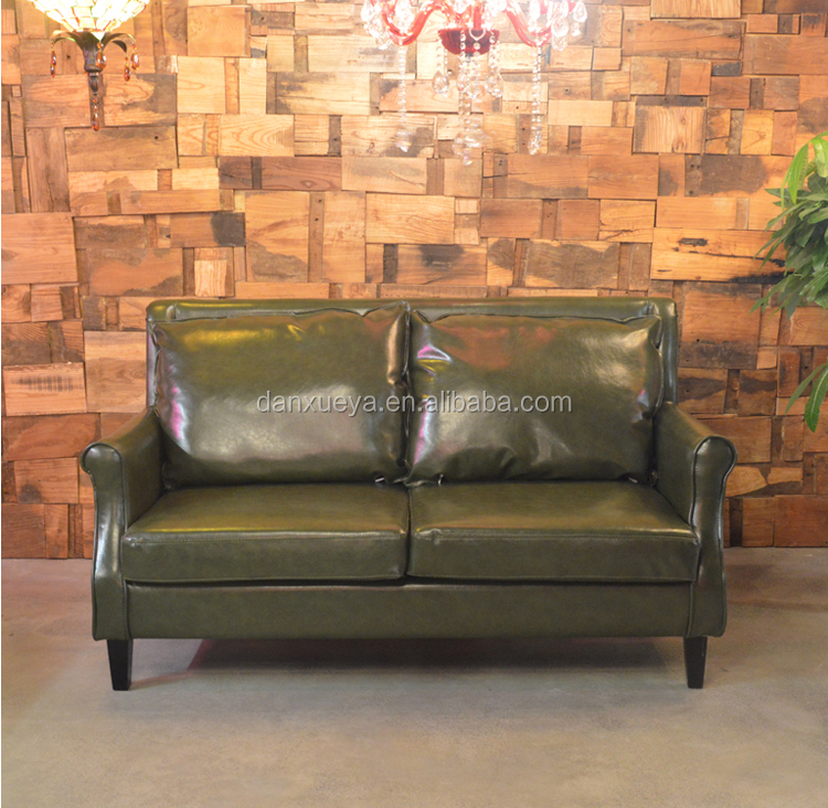 American fashion leather sofa in home livingroom or hotel furnirure