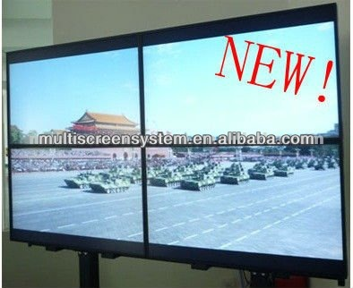 multi screen tv wall advertising display with slim tft led splicing screen