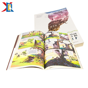 Full Color Hard Cover Sewing Children Comic Book Printing