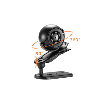 360 Degree Rotate SQ6 Mini Infrared Hidden Secretary Spy  Candid Camera For Bedroom