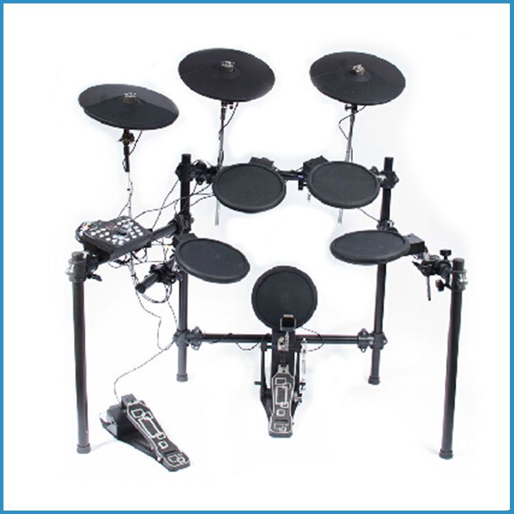 5 drums 3 cymbals electric drum kit 260 voice electrical drum set kids electronic drum set buy. Black Bedroom Furniture Sets. Home Design Ideas