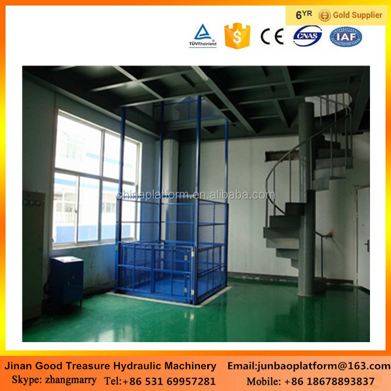 China Electric Vertical Cargo Lift for Lifting Goods and Warehouse price