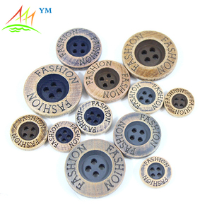 4-holes Shirt fashion wooden Button for custom