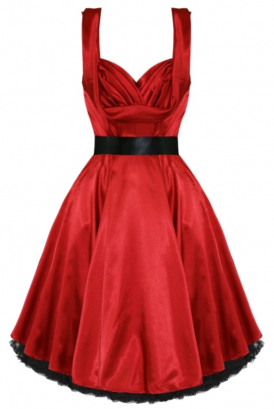 Get Quotations · Free shipping Red Vintage Rockabilly solid Retro Swing 50s 60s  pinup retro style Dress R1141 c697eb842da3