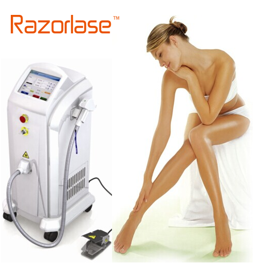 FDA approved pain free 808nm diode laser permanent hair removal machine for any hair color/any skin type for sale
