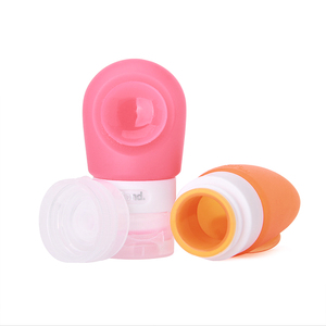 Outdoor travel bpa free silicone refillable perfume atomizer spray bottle