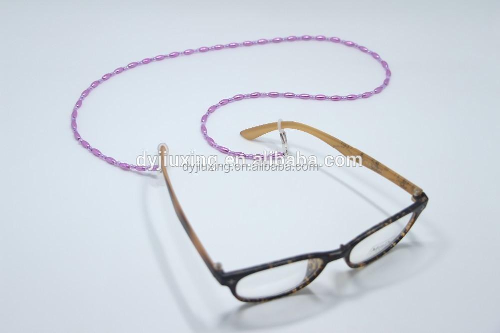 2 Pezzi Catene per Occhiali Colorate Catena per Occhiali Perline con Occhiali Clip Fermo per Occhiali da Vista Cordino per Occhiali da Sole per Donna