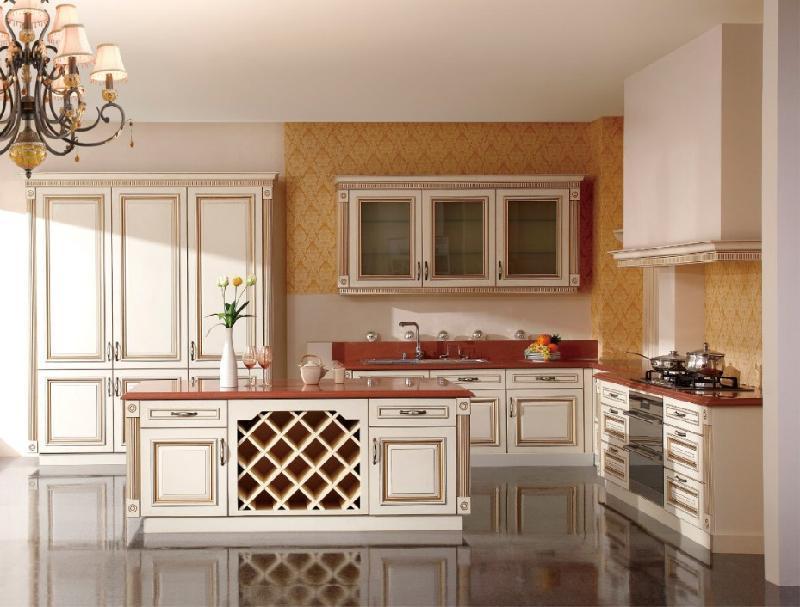 Terbaru Dapur Set Model Desain Ek Kayu Polos Pintu Kabinet