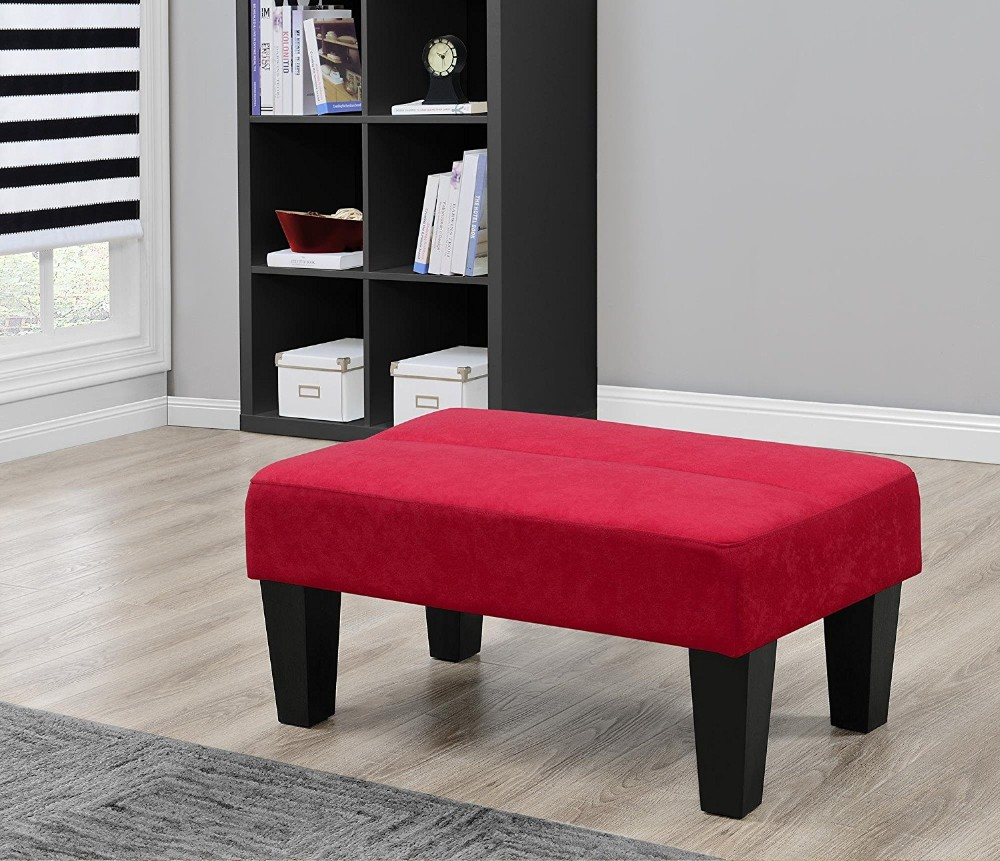Upholstered Ottoman Perfect Footrest Coffee Table Or Extra Seating Red Buy Home Goods Ottoman Sofa Footrest Coffee Table With Storage Ottomans Product On Alibaba Com