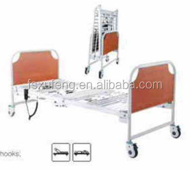 Foldable Electric Two Function home care hospital folding bed