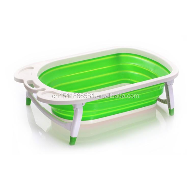 Folding Bath Tub/ Flexible Baby Bath/cheap Folded Children Bah Tub ...