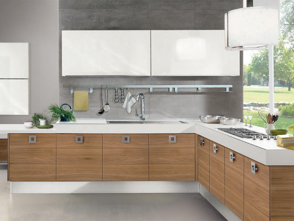 verschillende modellen van hout fineer moderne keuken kasten ...