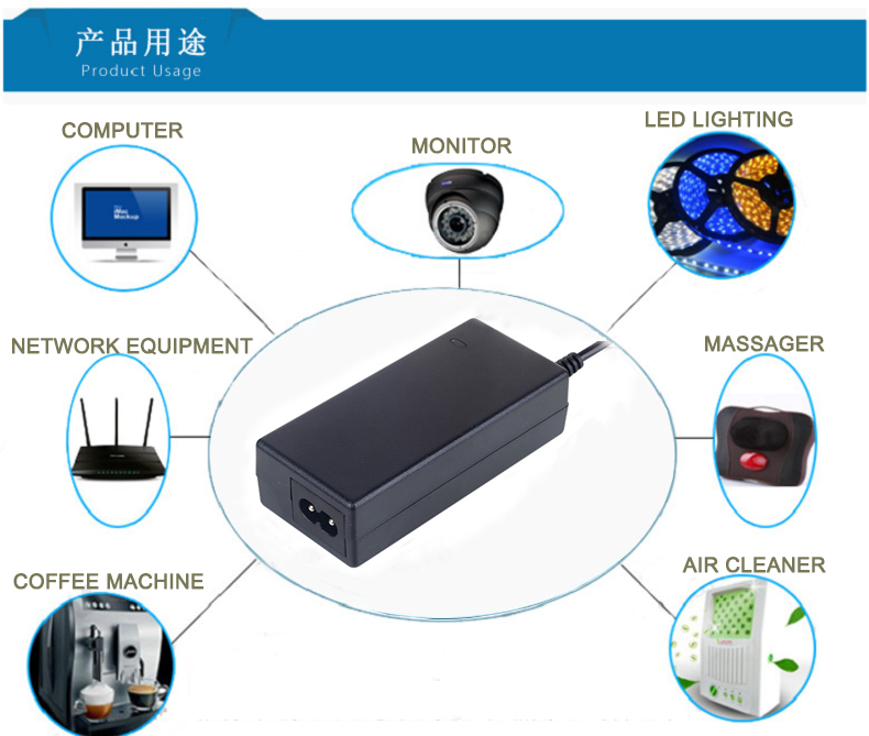 China wholesale AC DC 24v 2.5a Power adapter with cUL CE FCC listed