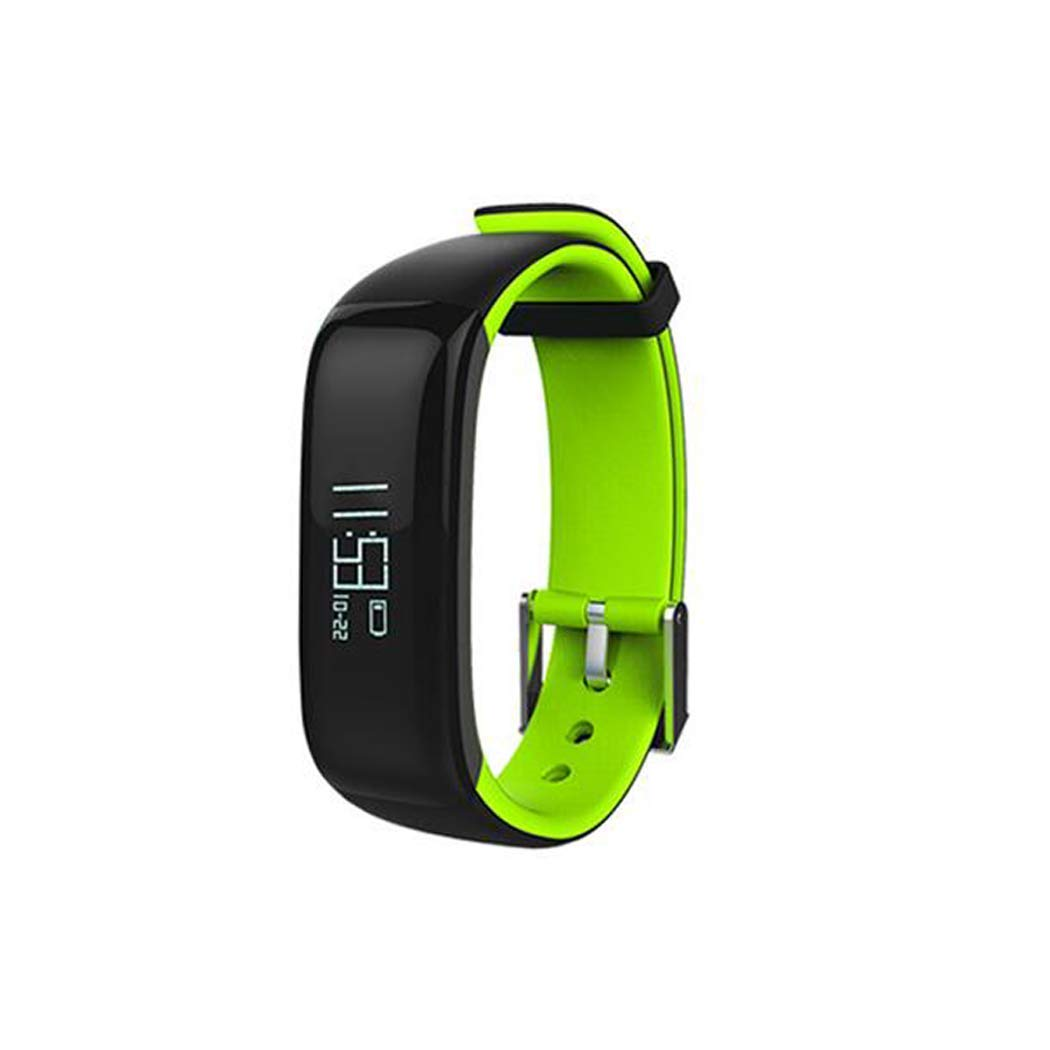 YWY Fitness Tracker Heart Rate Activity Tracker Touch Screen Wearable Pedometer Calories Track Bluetooth Smart Bracelet for Android and iOS Smart Phones (Color : Green)