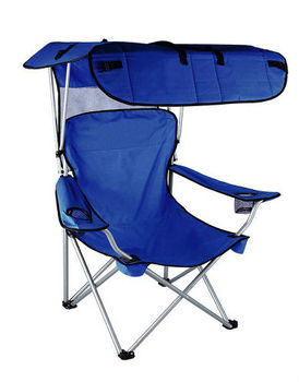 Camping ChairBeach ChairFolding Chair With CanopyBackpack And Double Cup Holder