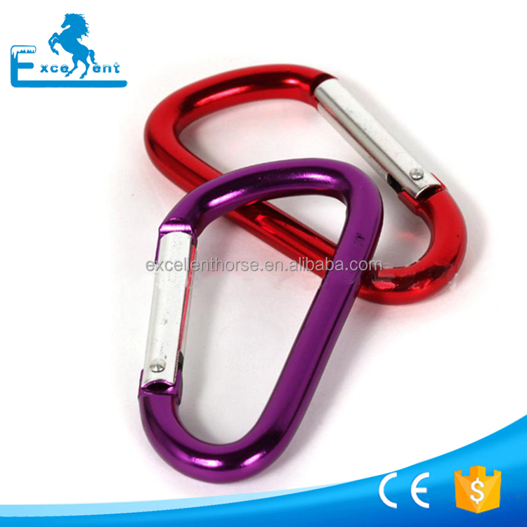Colorful Aluminum snap hook for keychains