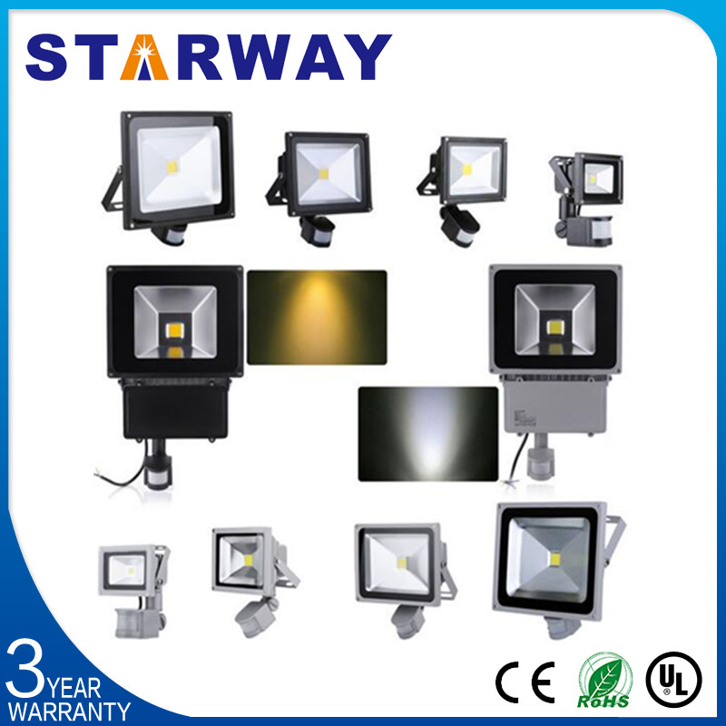 Ce Rohs Approved Led Outdoor Flood Light 10w/20w/50w Pir Sensor ...