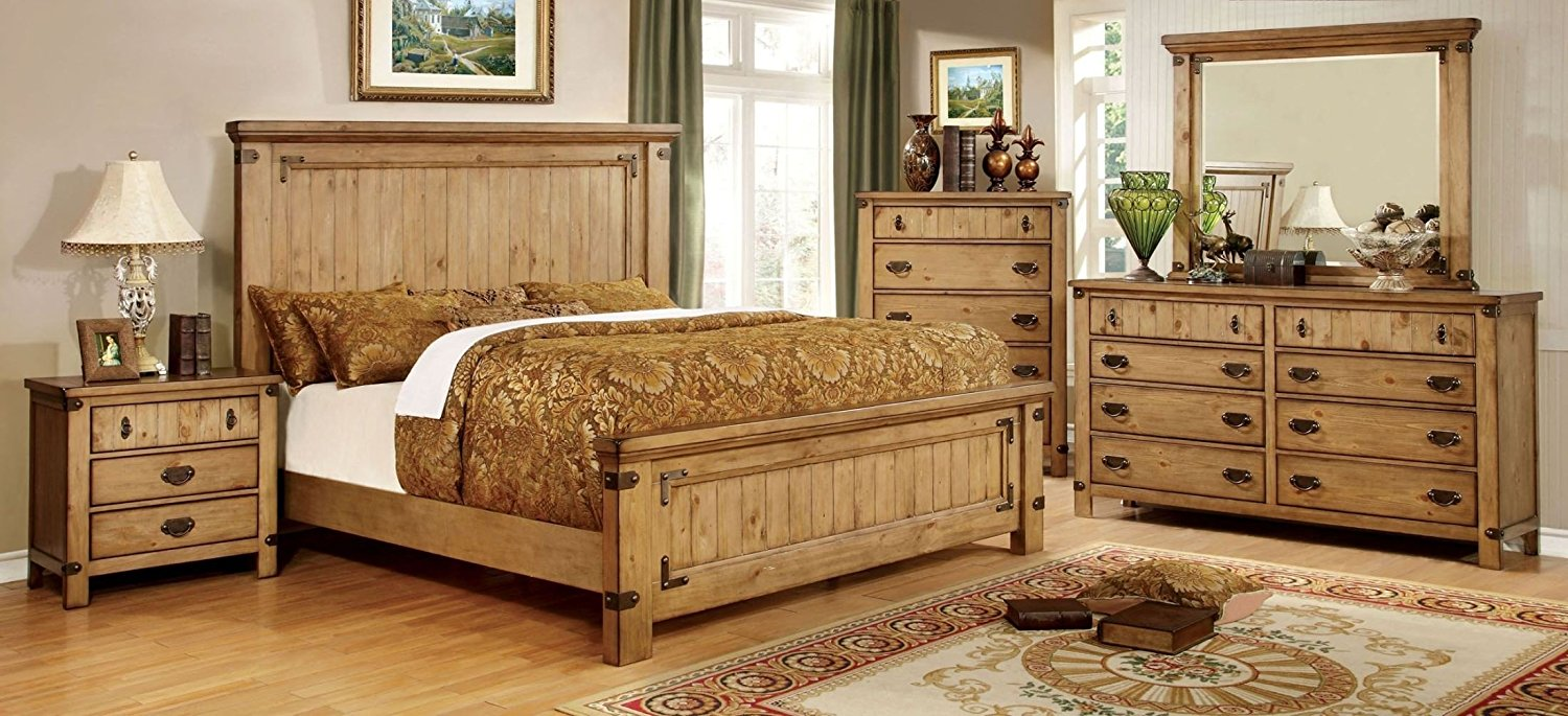 Get Quotations Esofa Clic Lovely Wooden Cottage Style Platform California King Size Bed Nightstand W Outlet Dresser