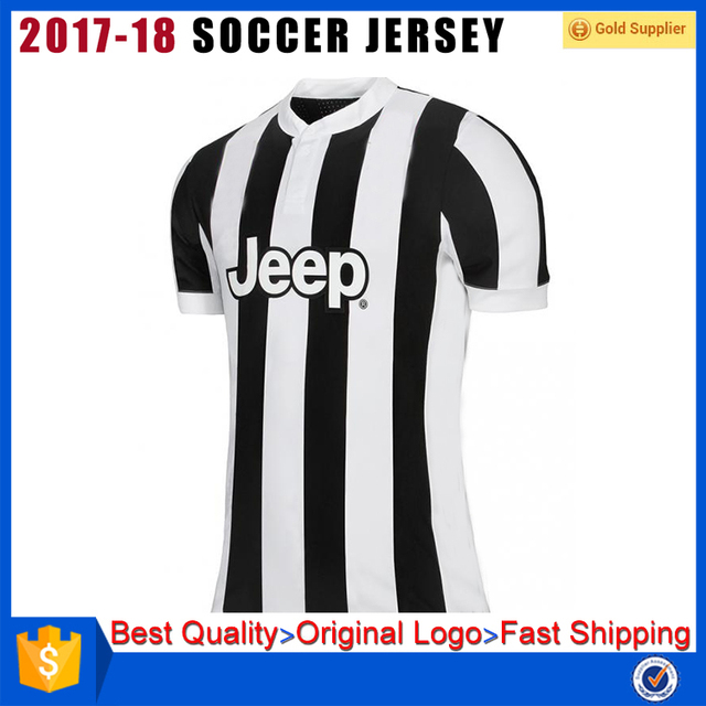 Top thai quality customize cheap 2017 2018 Juventus soccer jersey