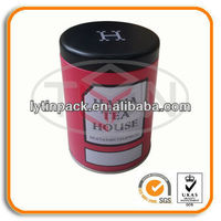 recycle Small round Tea Tin Containers with FDA/LFGB safety certificates