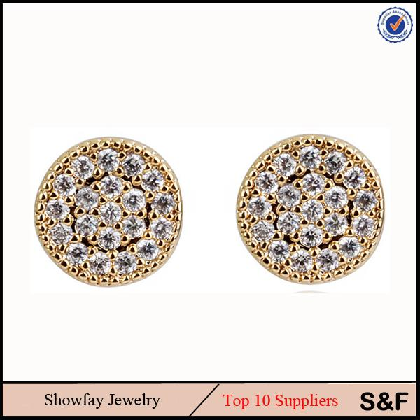 Gold CZ Jewelry Jewelry Earring 14 Karat Gold Jewelry Wholesale