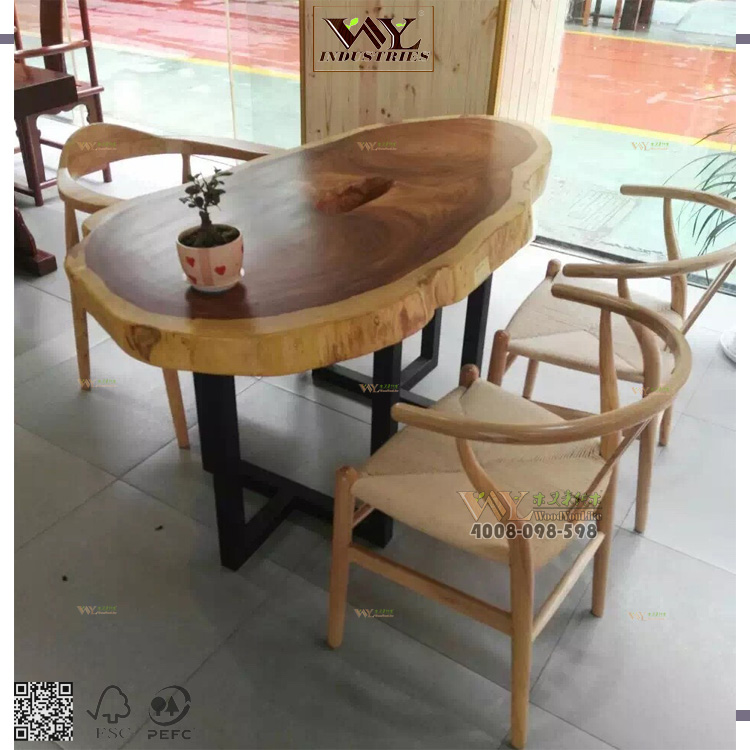 South American Walnut Solid Wooden Live Edge Slab Table Natural Wood Dining Coffee Tables Product